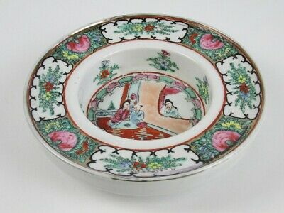 Vintage Jar Bowl Coin Pockets Porcelain Eastern Chinese Painted Xx Sec.