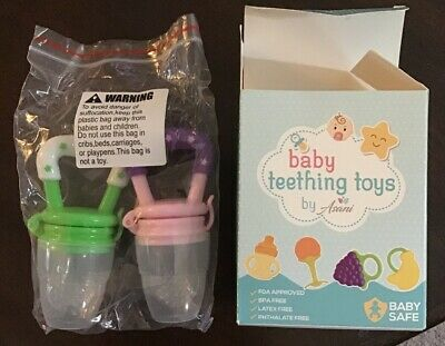 Baby Feeders Pacifier Fruit Holder Infant Teething Toy Soothers Easy Clean 2Pack