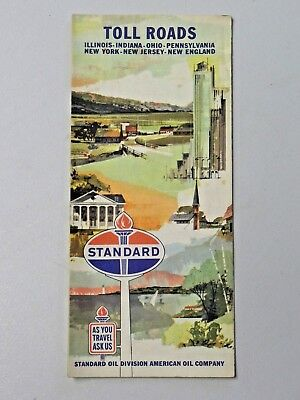 1963 STANDARD OIL Toll Road Vintage Map Illinois Indiana Ohio PA New on map of state of pennslyvannia, map of michigan and new york, map of northern va and pennsylvania, map of lakes in ohio, gold deposit maps pennsylvania, map of new york and washington dc, p of pennsylvania, map of eastern ohio, map of philadelphia and pennsylvania, printable map of south west pennsylvania, map michigan and pennsylvania, state land map of pennsylvania, map of ohio outline, mid west city map pennsylvania, map of ohio in 1830, map of connecticut and pennsylvania, pa road maps pennsylvania, map of indian villages in ohio, map of florida and pennsylvania, west virginia county map pennsylvania,