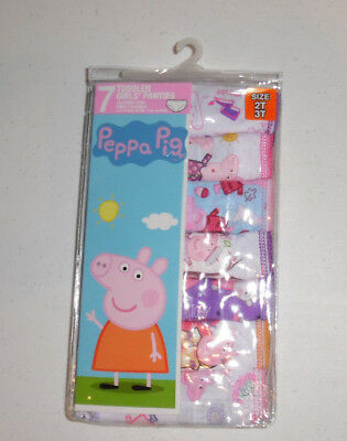 Peppa Pig Cotton Undies 7 Panties Underwear Toddler Girls 2T/3T NIP