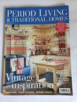 Period Living & Traditional Homes Magazine Mar 2004 (Paint, Bathrooms, Builders)
