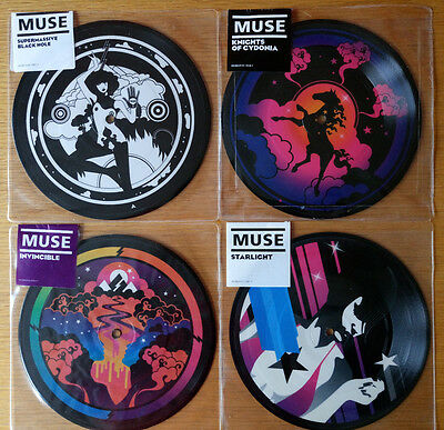 """Muse - collection of never opened 7"""" Limited Edition Vinyl Picture Discs"""