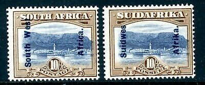 South West Africa 1927 10/- SG 54 singles MM