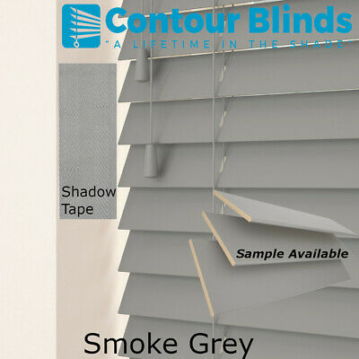 REAL WOOD WOODEN VENETIAN  BLINDS, 35 & 50mm SLATS- CHILD SAFE BLIND WITH TAPES