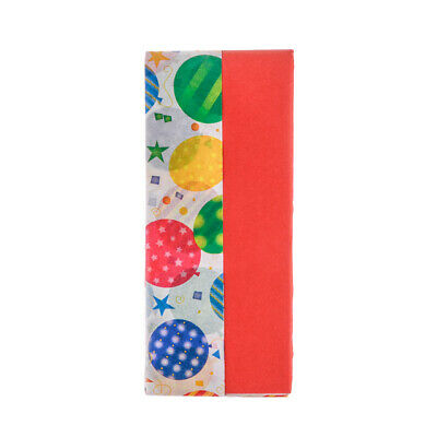Red & Balloons Design Tissue Paper Gift Wrap Pack of 10 Sheets