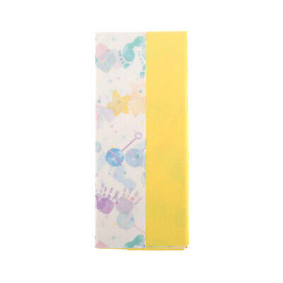 Yellow & Baby Themed Print Design Tissue Paper Gift Wrap Pack of 10 Sheets