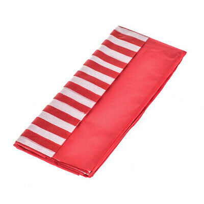 Red & Red & White Striped Design Tissue Paper Gift Wrap Pack of 10 Sheets