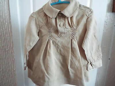 Antique Cream Silk Smock/Baby Or Doll