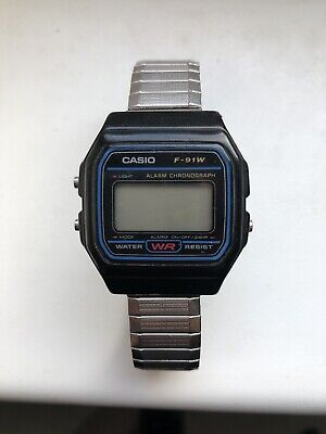 Genuine Original Casio F-91W Alarm Chronograph Classic Digital Retro Watch