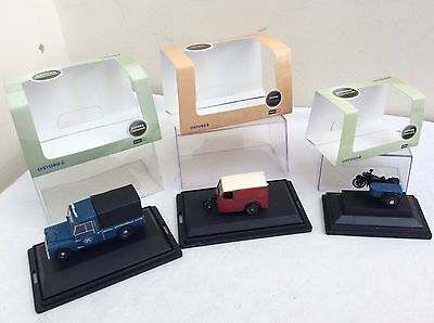 3 x Oxford Diecast  OO (1/76) scale Vehicles inc BSA     all  BOXED