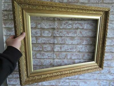 """REALLY OLD picture frame gilt fits a 20 inch X 14 """" painting"""