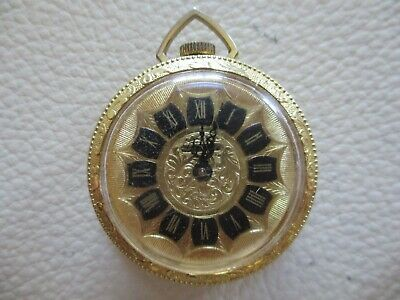 Vintage Swiss Made Lucerne Gold Plated Rococo Design Fob Pocket Watch