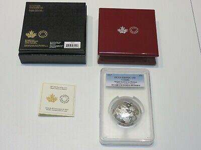 "2017 Canadian $50 ""Maple Leaves in Motion"" 5oz. Silver coin. PCGS PR69DCAM"