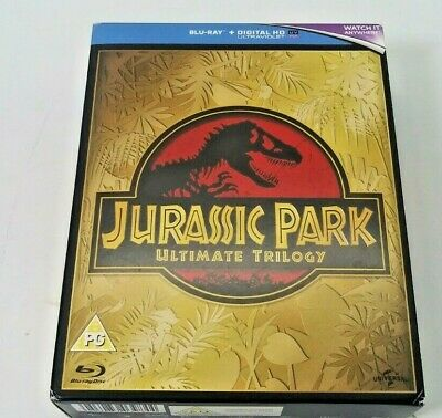 Jurassic Park Ultimate Trilogy Bluray  2015   DVD All three movies!