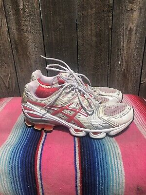 huge discount a8fc8 afc5a Asics sz 10 Gel-Kinsei 2 white pink silver running womens ladies sneakers