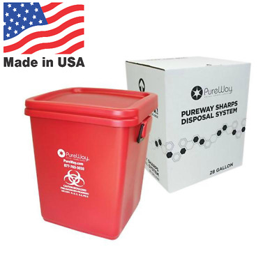 Pureway Sharps Collection Bin 28 Gallon (40028) - Made in USA