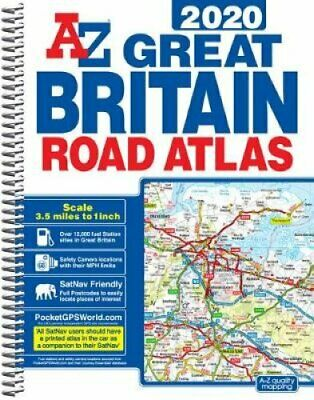 Great Britain Road Atlas 2020 (A4 Spiral) 9781782572695 | Brand New