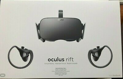 Oculus Rift VR headset with touch controllers for PC virtual reality
