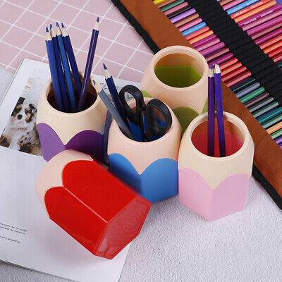 1 Pcs Creative Pen Pencil Pot Holder Stationery Desk Tidy Container UKHD