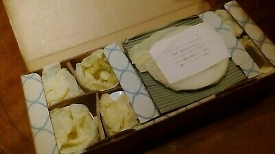 Noritake Japanese Airlines cups and plates  vintage early 70's boxed JAL