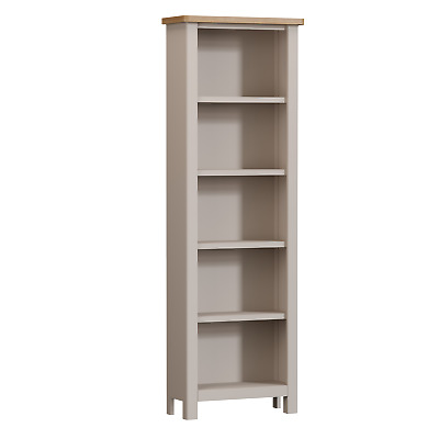 Oxford Grey Painted Large Bookcase / Solid Wood Bookshelf / Tall Shelving Unit