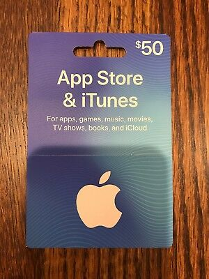 Apple $50.00 App Store & iTunes Gift Card - no email.  USPS only