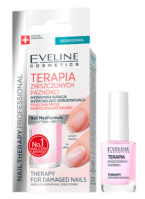 Eveline Cosmetics Therapy For Demaged Nails Rebuild & Repair Nail Conditioner
