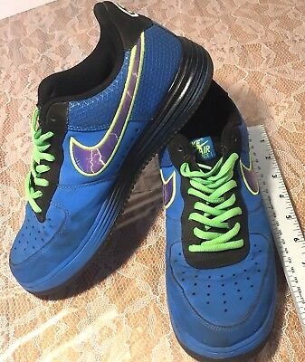 100% authentic 14478 9542c Nike Air Max Lunar Men s Shoes Sneakers Blue Running Track Athletics Sz 8M