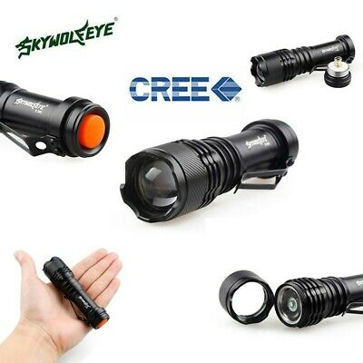 Sky Wolf Eye 5000LM CREE Q5 3 Modes ZOOMABLE LED Flashlight Torch Super Bright