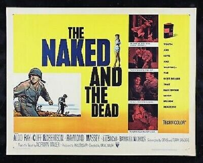 Super 8mm sound 4X400 THE NAKED AND THE DEAD. Aldo Ray World war II classic.