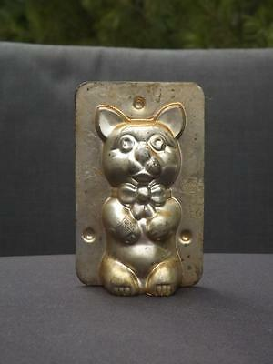 Vintage Matfer France Bow Tie Puppy Dog Tin Mold VGC