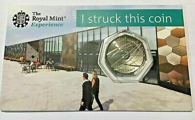 2018 Issac Newton 50p Strike your own. Rare! ONLY 19,934 Minted