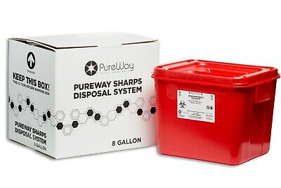 Pureway Sharps Disposal Collection System 8 Gallon (40008) Made in USA