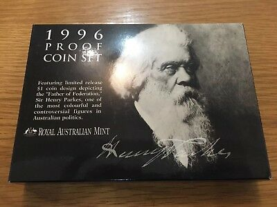 1996 Proof Coin Set Royal Australian Mint Rare Excellent Gift Collectible
