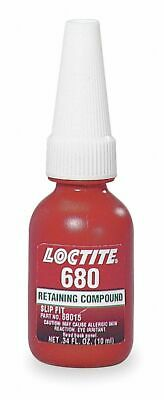 Loctite Retaining Compound, 0.34 oz. Bottle, 4000 Shear Strength (PSI), -65° to