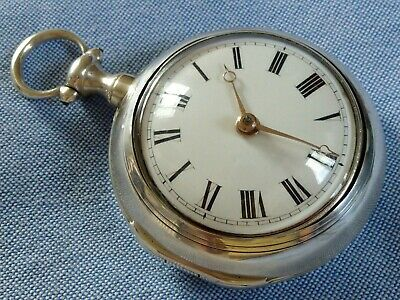 Exceptional 18th Century Pair Cased Verge Pocket Watch, 1792, Fully Serviced.