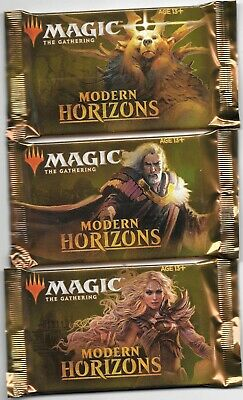 MTG  Modern Horizons (3) Booster Packs NEW Factory Sealed Mint Fast Free Ship