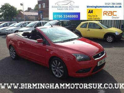 2008 Ford Focus CC 2.0 2DR Convertible RED + LOW MILES