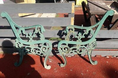 2 Beautiful Cast Iron Lions Head 19th Century Bench Ends / Very Robust