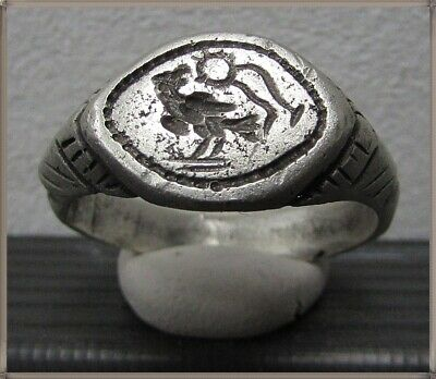 ** AQUILA - LEGIONARY EAGLE **Ancient Silver Legionary Roman Ring **AMAZING **