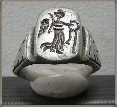 ** VICTORIA ** Ancient Legionary Silver Roman Ring ** RARE **