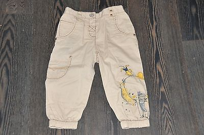 Girls Next Beige Elephant Summer Trousers Size 3-4 Years Bnwt