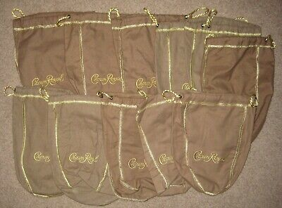 (10) NEW Crown Royal Purple 1 Liter Felt Bags