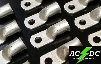 """(10) 1/0 AWG Ring 5/16"""" Hole Terminal Lug Tin Plated Copper Cable lug Gauge"""
