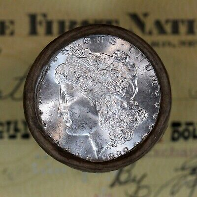 ONE - $20 *UNCIRCULATED-GEM BU* Morgan Silver Dollar Roll 1888 & CC-Mint Ends