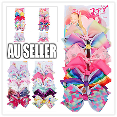 6pcs  Signature Jojo Siwa Bows Girls Fashion Hair Accessories Party Gift