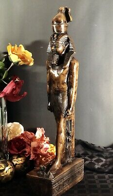 Egyptian Statue King Tut Sytle Heavy Large Made in Egypt Hand Cast /carved Resin
