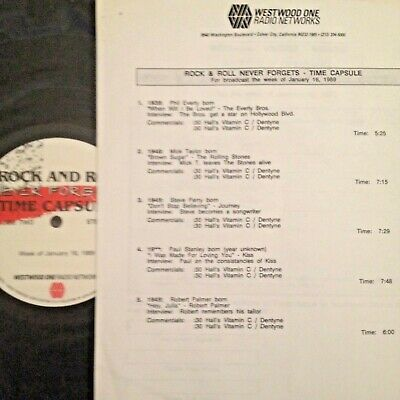 Radio Show: R & R Time Capsules 1/18/89 Steve Perry, Mick Taylor, Paul Stanley