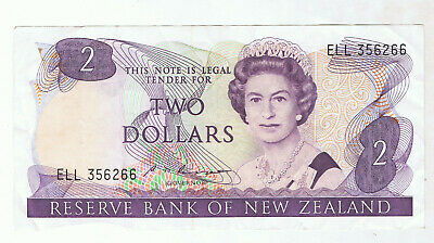 New Zealand $2 Paper Banknote #2