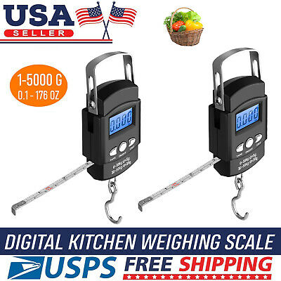 50kg Portable Travel Tare Hanging Hook Digital Suitcase LCD Luggage Weight Scale